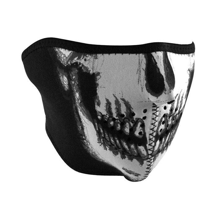 Neoprene 1 2 Face Mask - Skull Face 5158