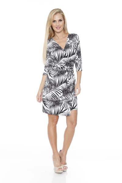 White Mark Women s  Mariah  Wrap Dress - Hawaiian