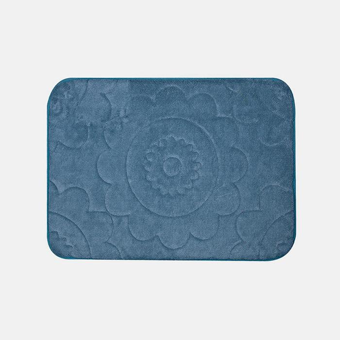 Luxury Embossed 16x24 Memory Foam Bath Mat Tanga