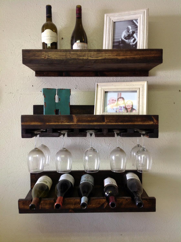 Set Of 3 Rustic Luxe Tiered Wine Rack Bellechic