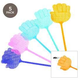 5-Pack  Pest Control Fly Swatters -Assorted Colors 7b7fe420845b