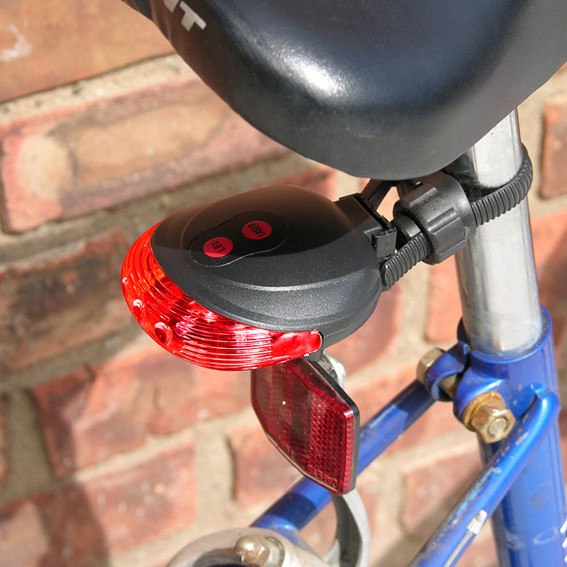 iCover Bicycle Rear Safety Laser Beam  amp  Lights