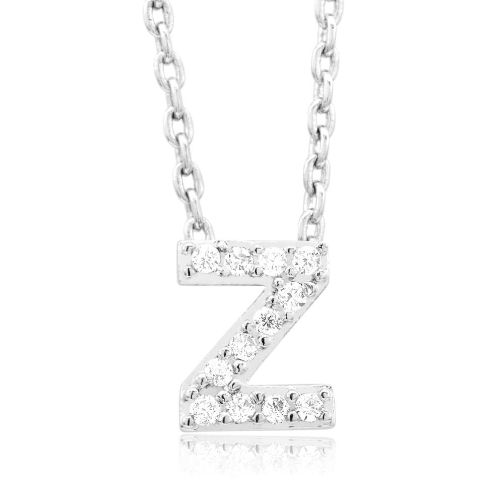 18kt White Gold Plated Swarovski Necklace - Z