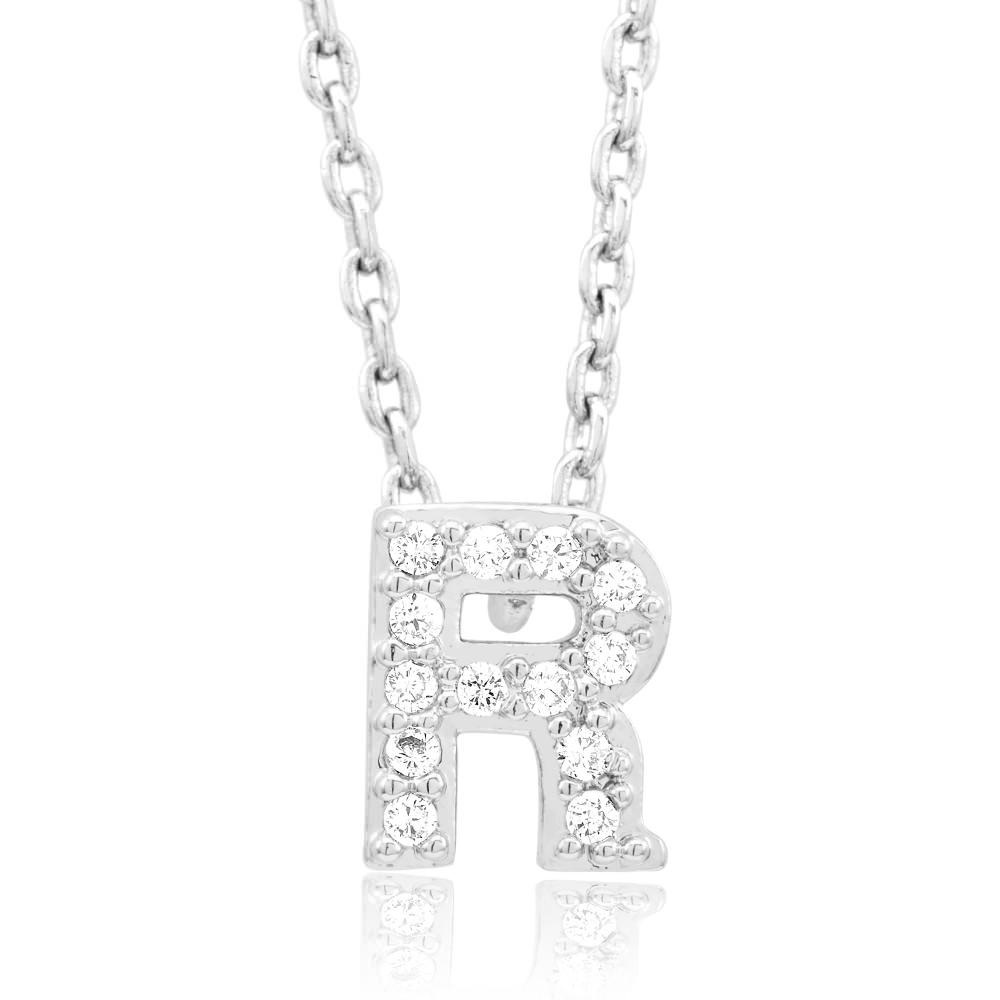 18kt White Gold Plated Swarovski Necklace - R