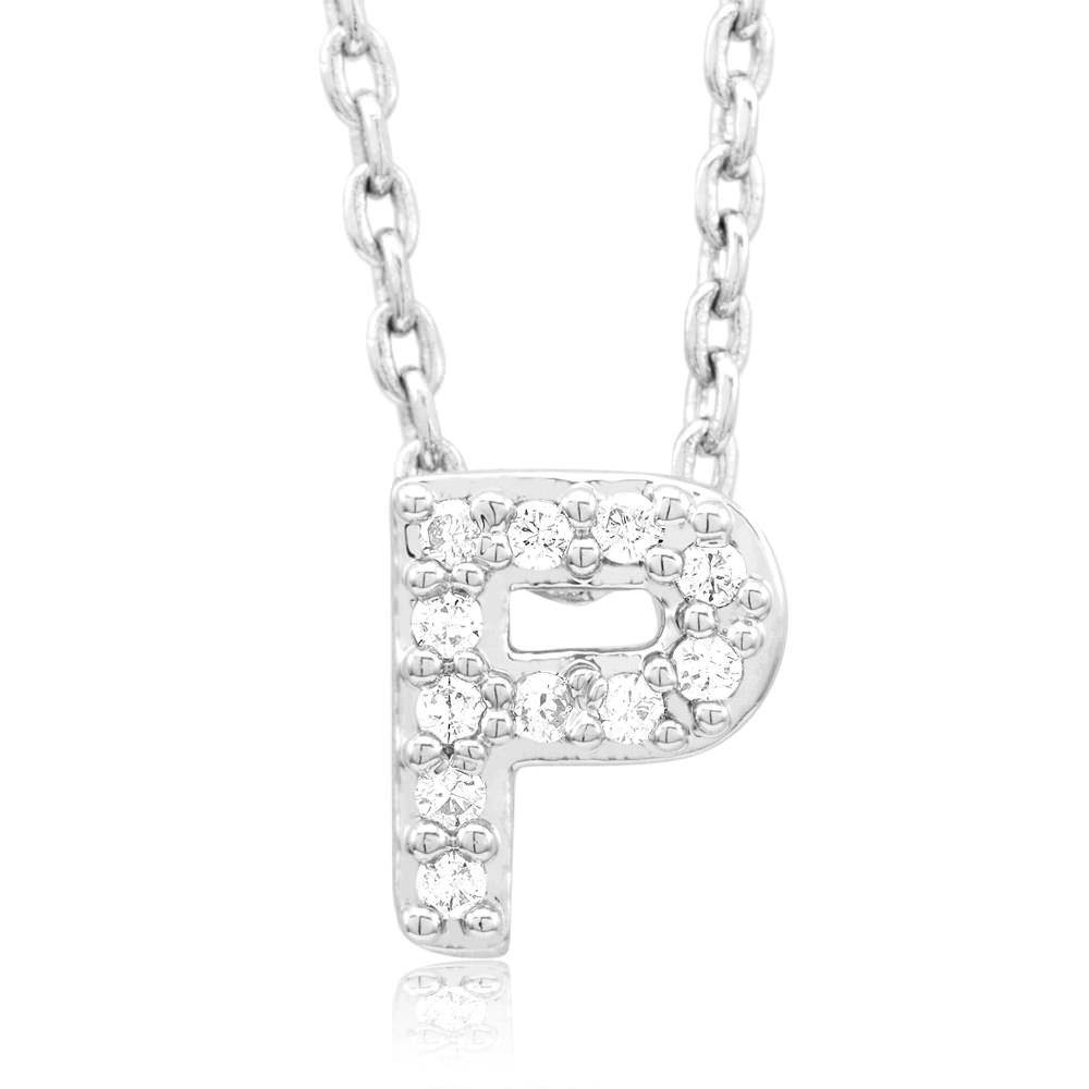 18kt White Gold Plated Swarovski Necklace - P