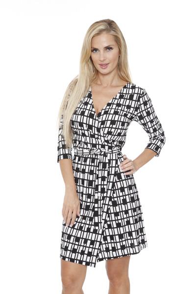White Mark Women s  Mariah  Wrap Dress