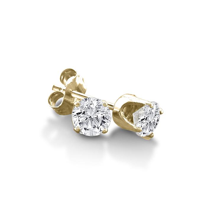 Certified 1 3ct Natural Genuine Diamond Stud Earrings In 10 Karat Yell