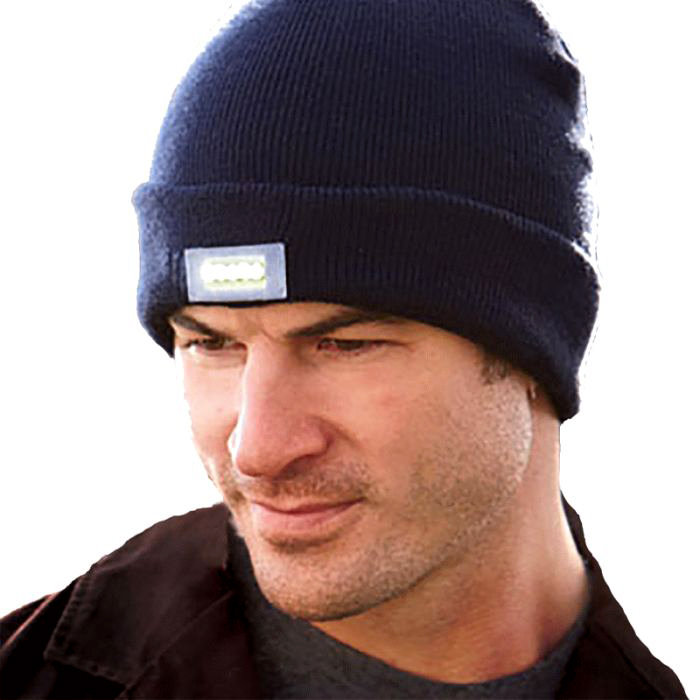 Unisex Beanie with Built-In LED Flashlight (2 or 3 pack)