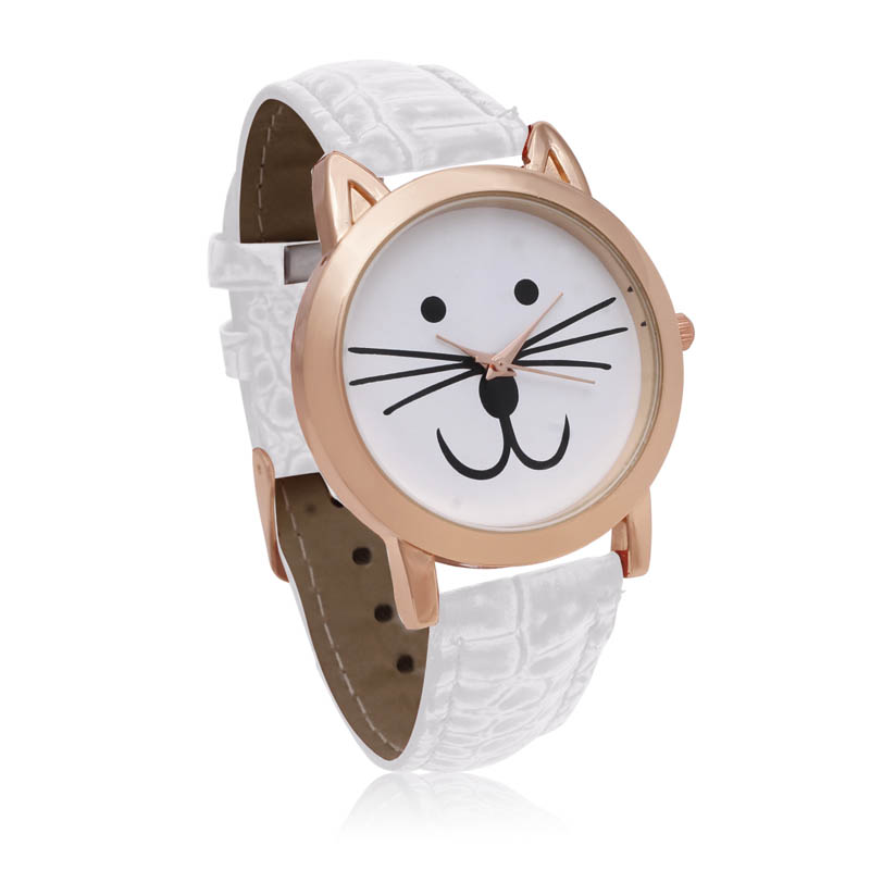 Octavia Purr Watch - White