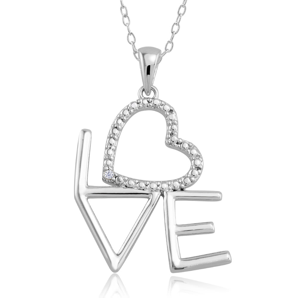 1 10 CTW Diamond Accent Necklace - Written Love