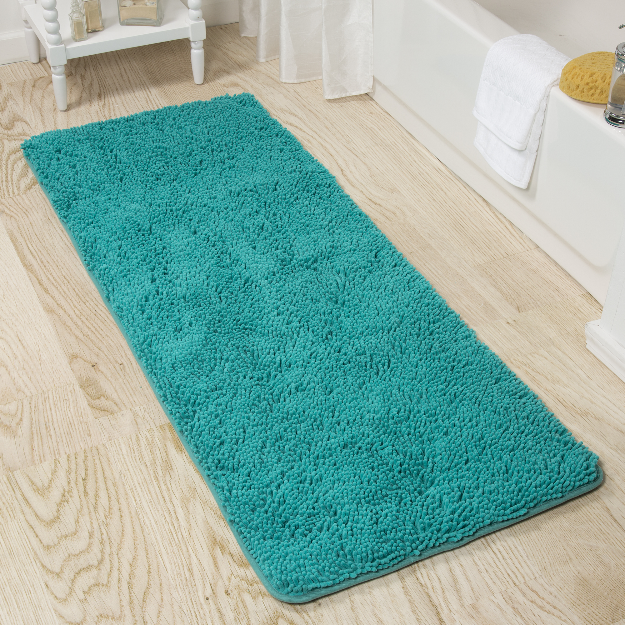 Lavish Extra Long Home Memory Foam Shag Bath Mat 2 X 5