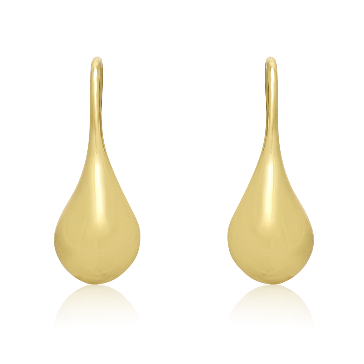 Gold Tone Teardrop Earrings, 1 2 Inch