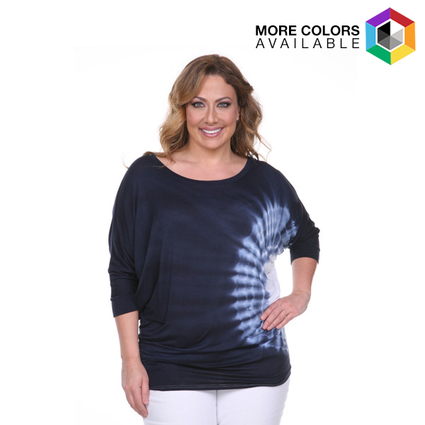 Women s Plus-size Tie Dye Tunic Top