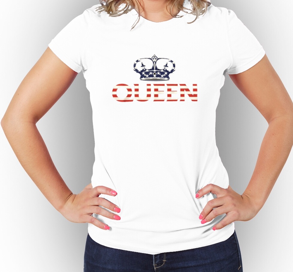 Queen USA Flag Women s Graphic T-Shirt