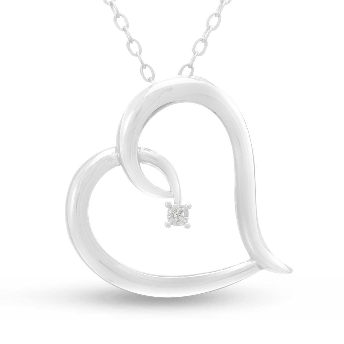Statement Diamond Heart Necklace