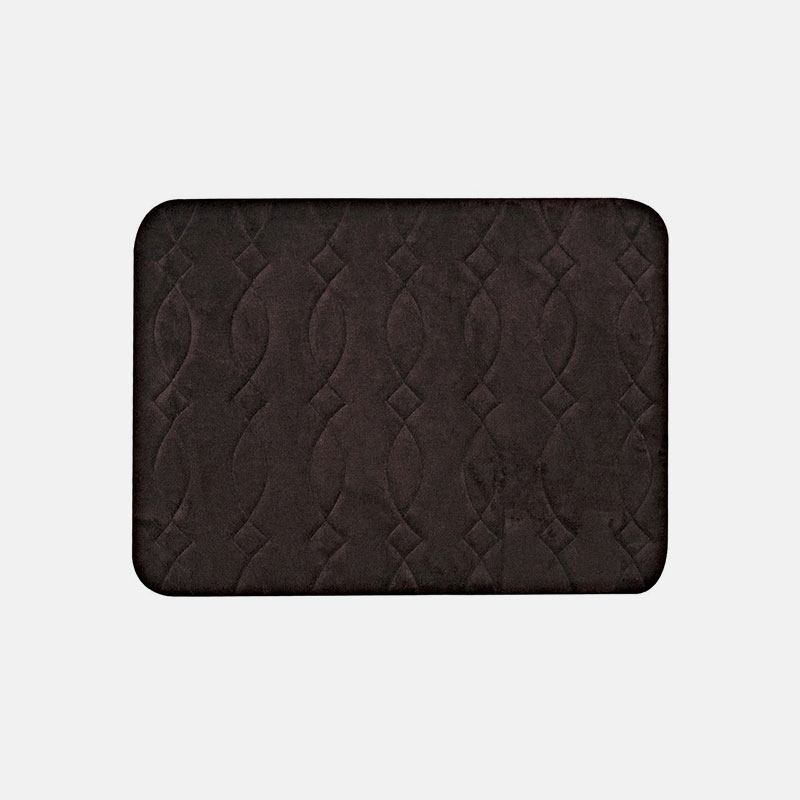 Luxury Embossed 16x24 Memory Foam Bath Mat Tanga