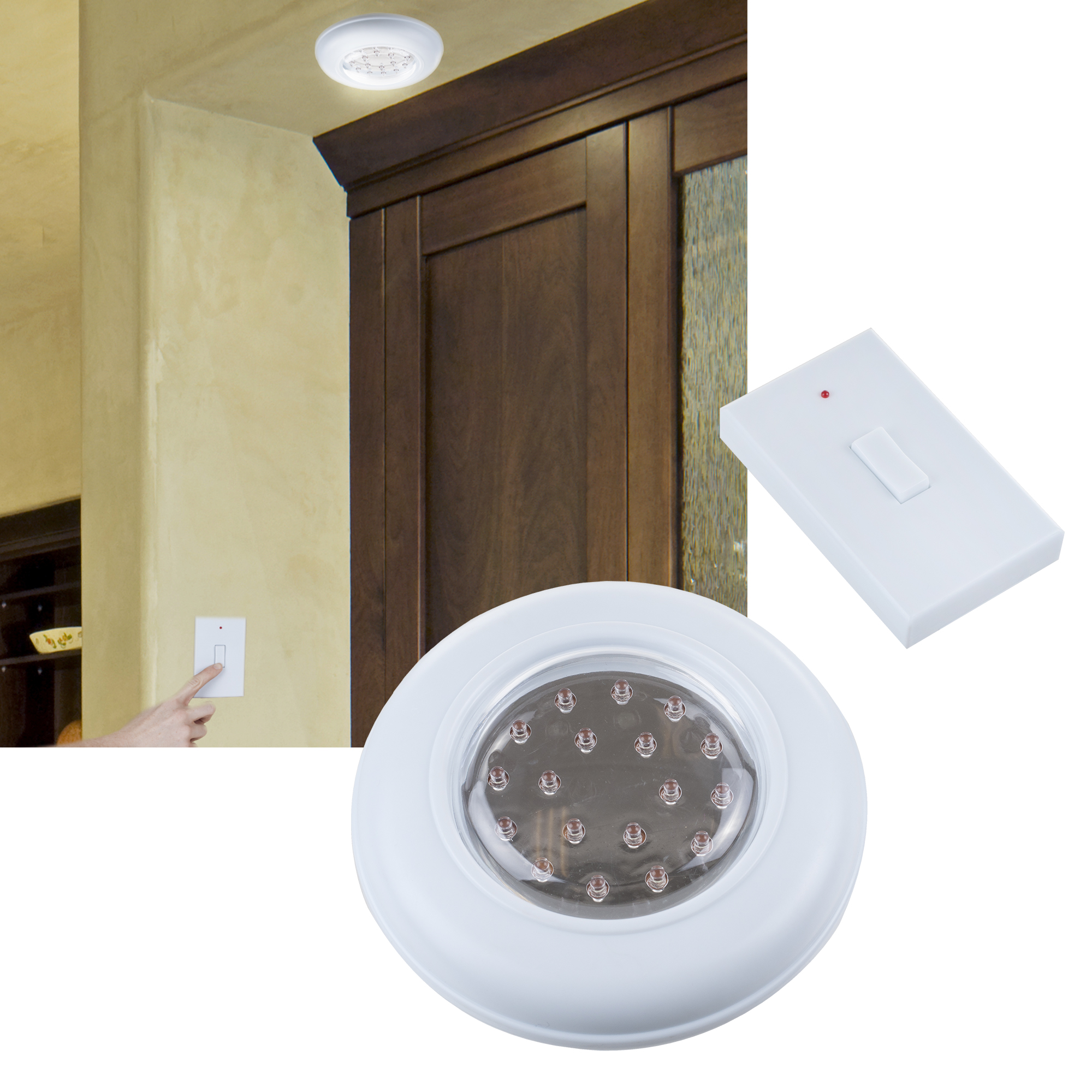Cordless Ceilingwall Light With Remote Control Light Switch Tanga