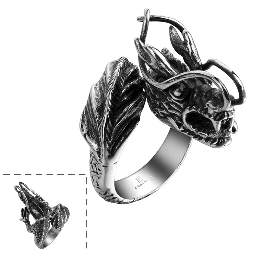 Creatures of the Sea Stainless Steel Ring