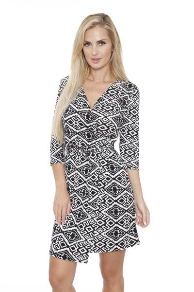 White Mark Women s  Mariah  Wrap Dress - Trellis