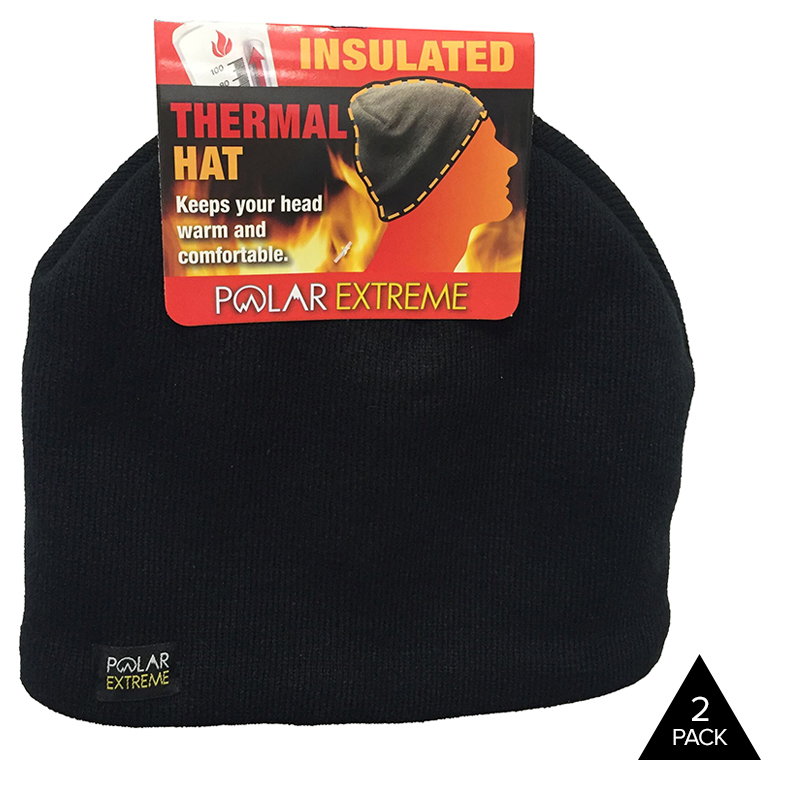 2-Pack Polar Extreme Insulated Thermal Hats