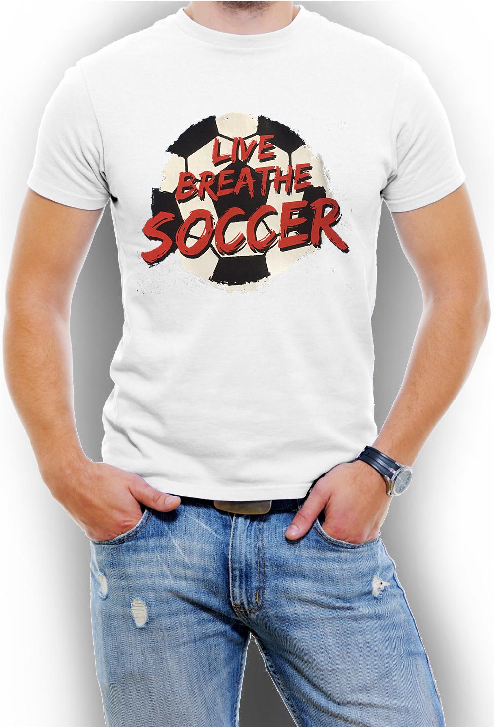 Live Breathe Soccer  Men s T-Shirt