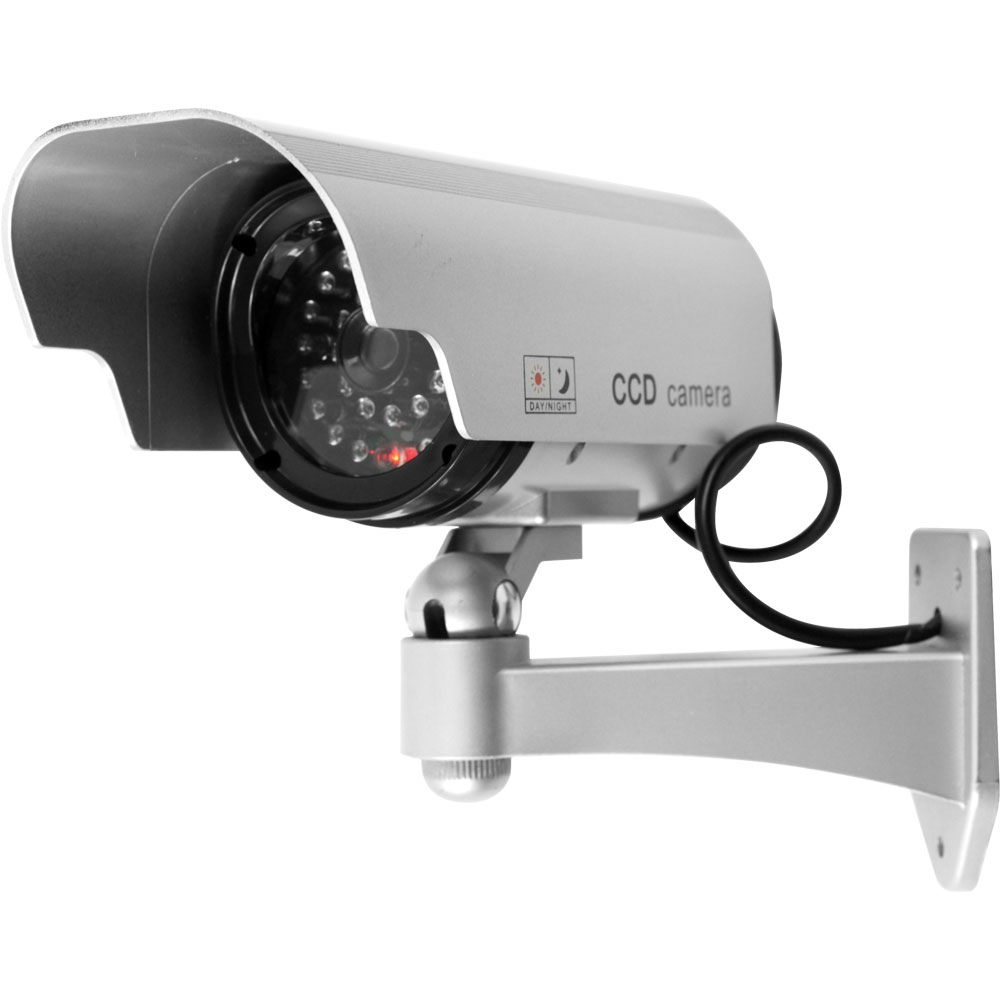 Security Camera Decoy with Blinking LED  amp  Adjustable Mount