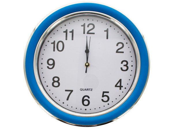 12.5 Round  Blue Silver Wall Clock 8486