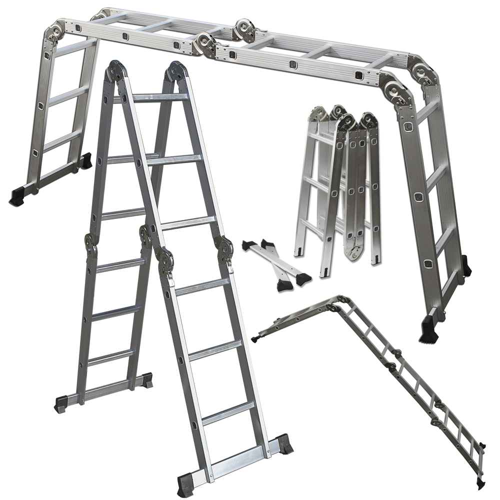 Oxgord Heavy Duty Aluminum 12 5 Ft Folding Ladder Tanga