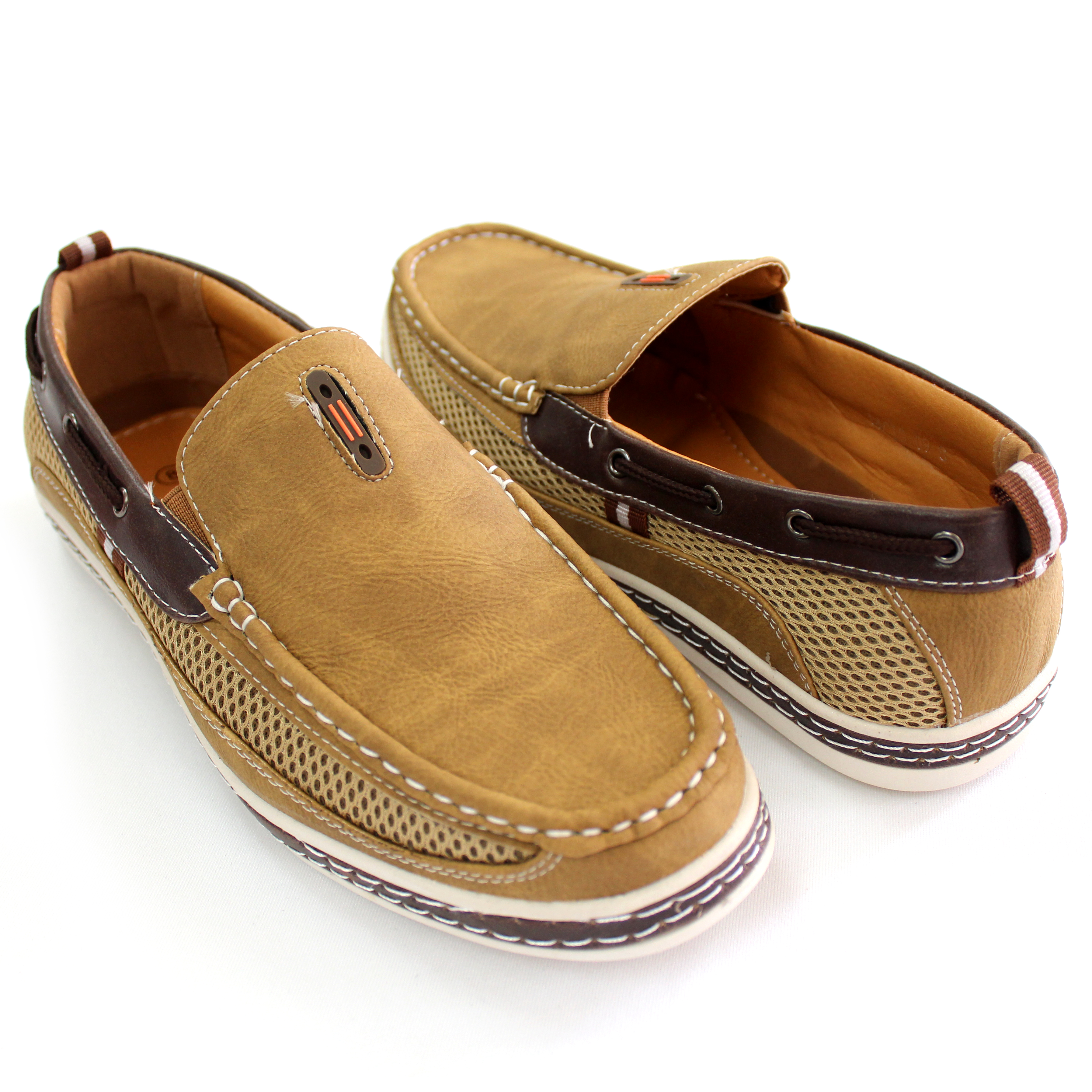 Men S Nautical Inspired Casual Bonded Leather Slip On