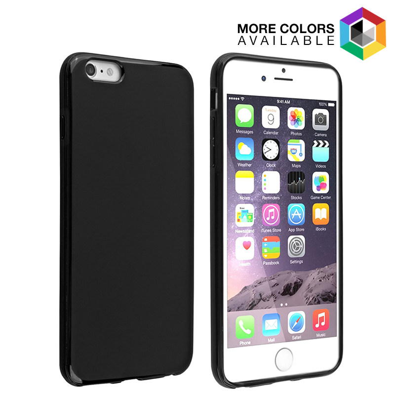 Universal High Gloss Silicone Case for iPhone 6 Plus
