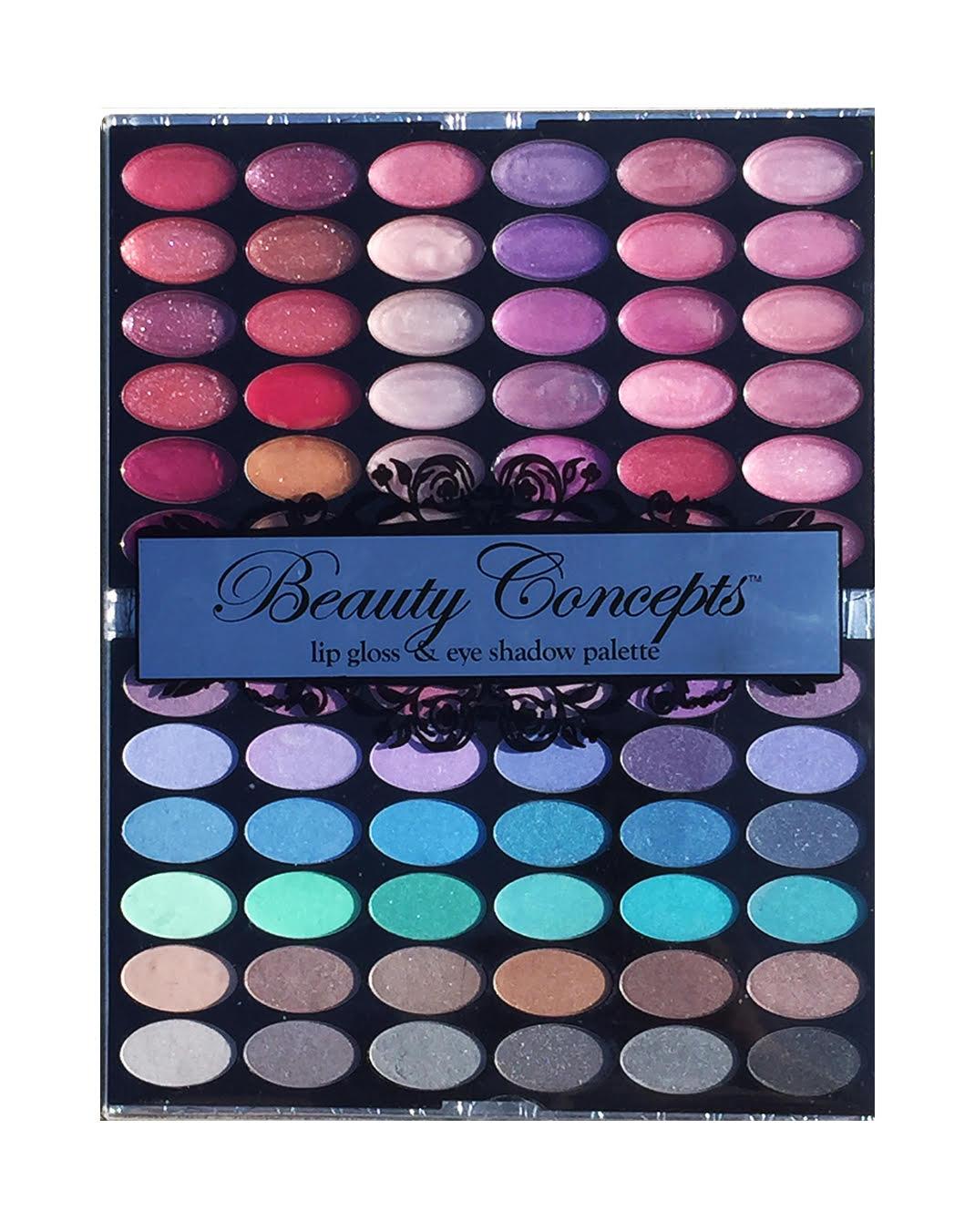 Beauty Concepts Lip Gloss  amp  Eye Shadow Palette