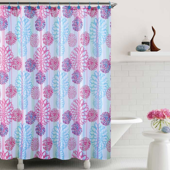 Luxury Embossed Shower Curtains Cameron