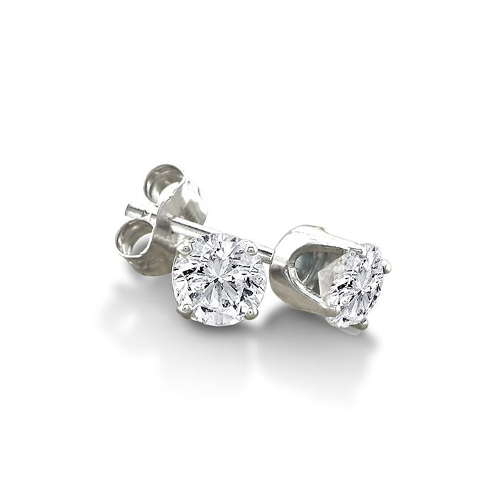 Certified 1 3ct Natural Genuine Diamond Stud Earrings In 10 Karat Whit