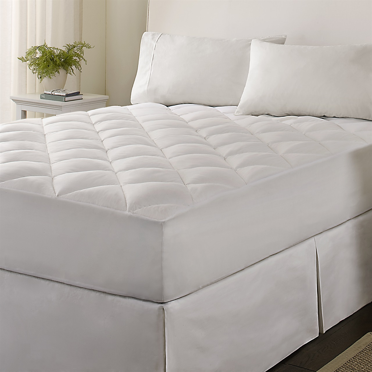 Comfort Beddings 650-Thread Count Attached Waterbed Sheet Set Complete Bedding Option 100% Egyptian Cotton Solid On Amazon