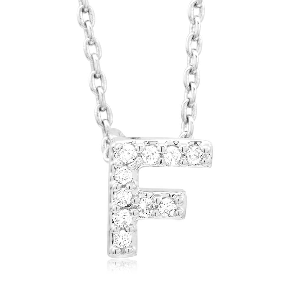 18kt White Gold Plated Swarovski Necklace - F