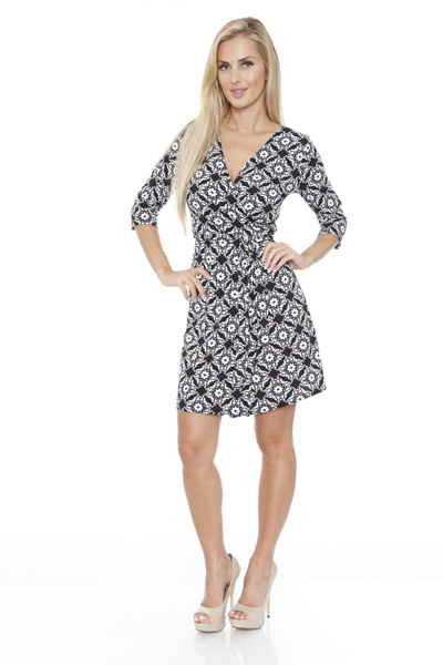 White Mark Women s  Mariah  Wrap Dress - Arabesque