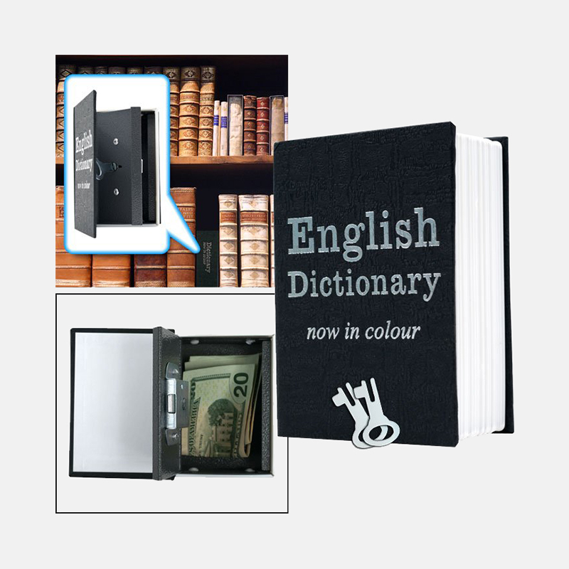 Mini Dictionary Diversion Book Safe w  Key Lock - Metal
