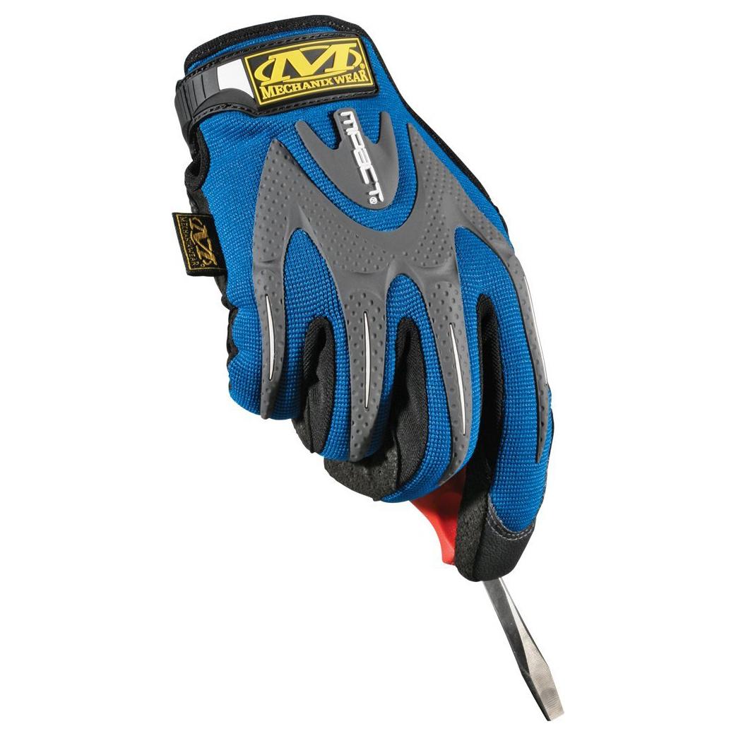 2-Pairs Mechanix Wear M-PACT Round Safety Work Glove (Red, Blue & Black)