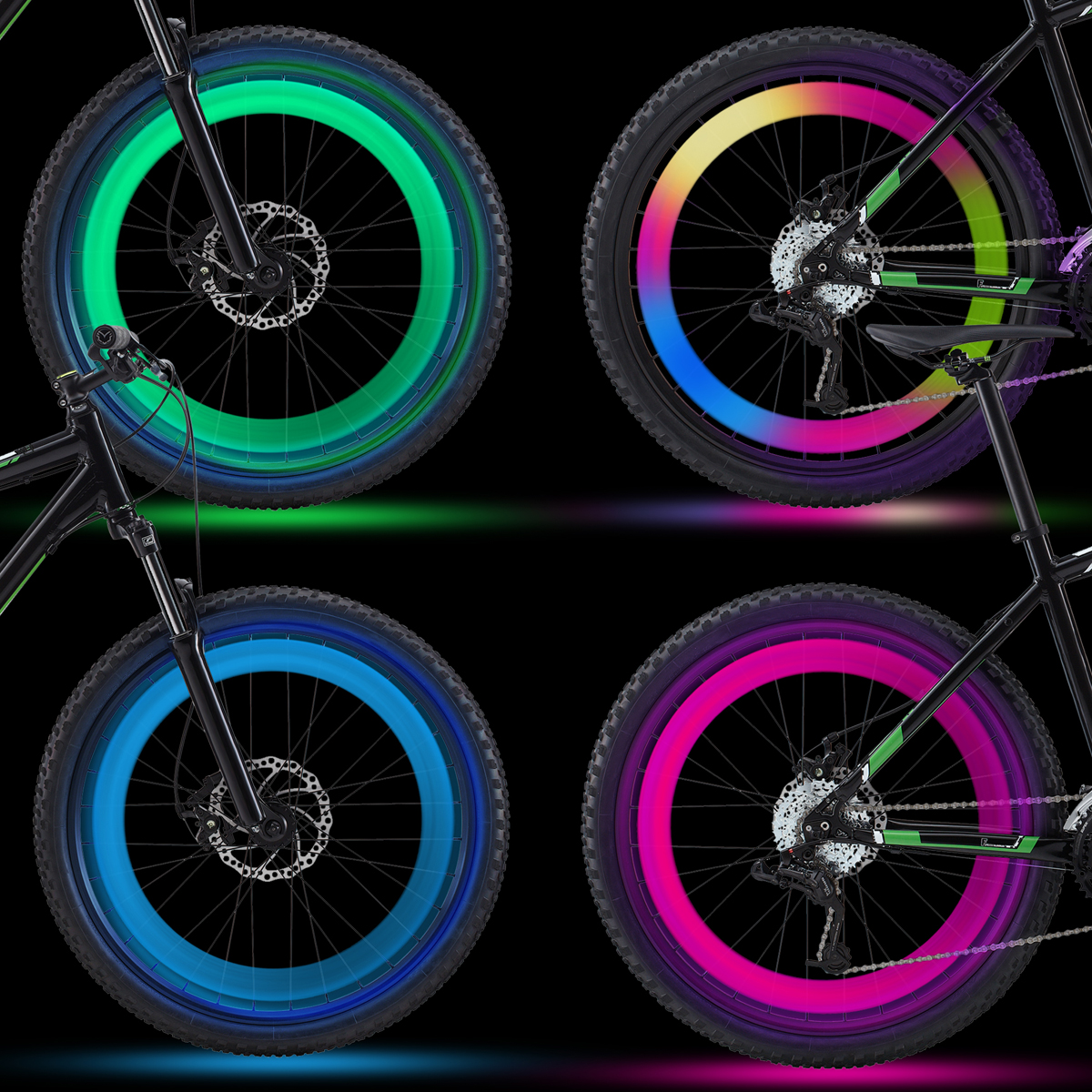 4 Pack  LED Bicycle Wheel Lights