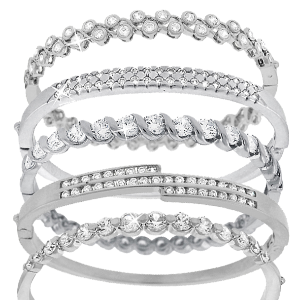 Gold-Plated Cubic Zirconia Bangle - Assorted Styles 9d9fb1d51409