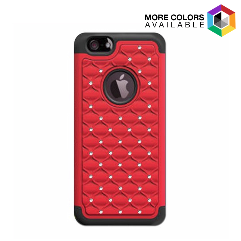 2-Pack  Slim Profile Cases for iPhone 6 or 6 Plus - Studded Diamond