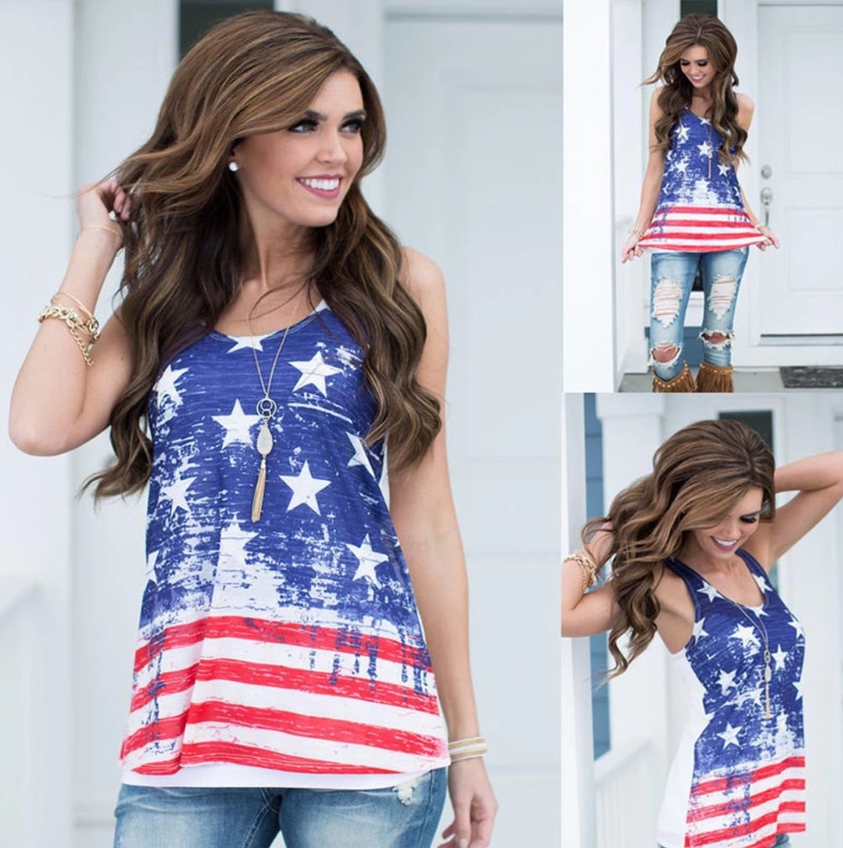 Americana Stars And Stripes Tank Top