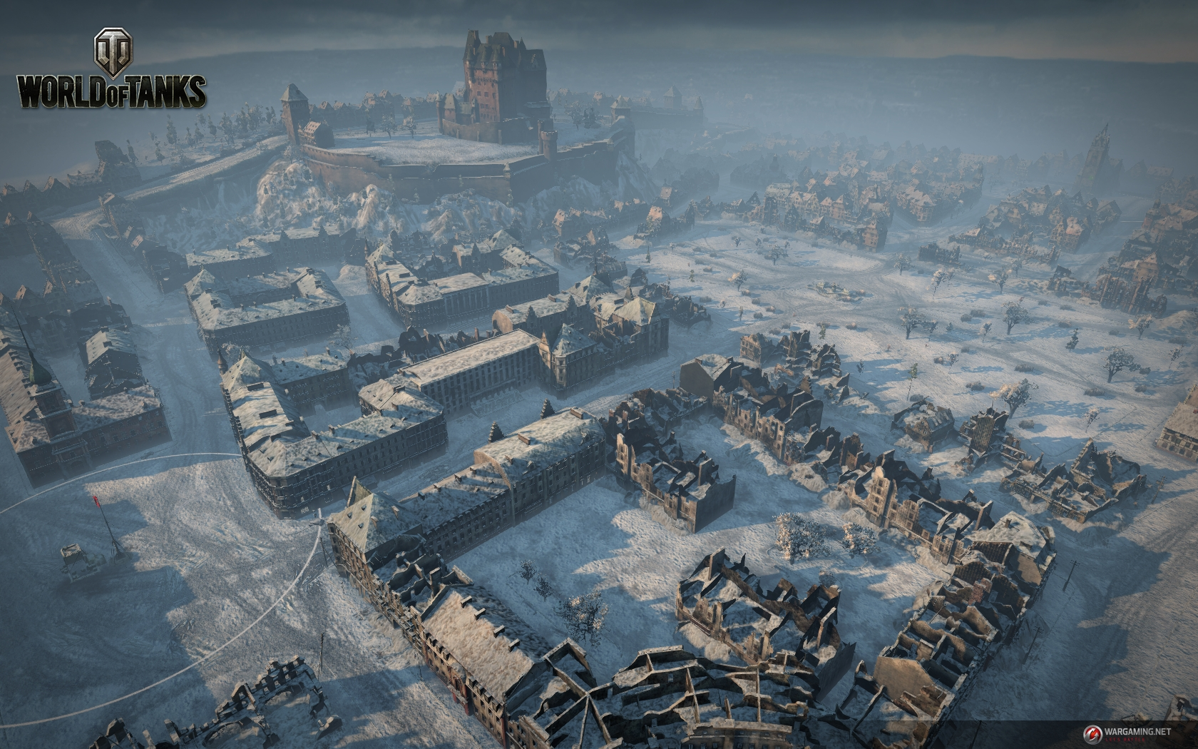 Tank battlegrounds himmelsdorf map strategy tank war room himmelsdorf map tactics per tank class an aerial view of winter himmelsdorf top flag spawn is on the left gumiabroncs Choice Image