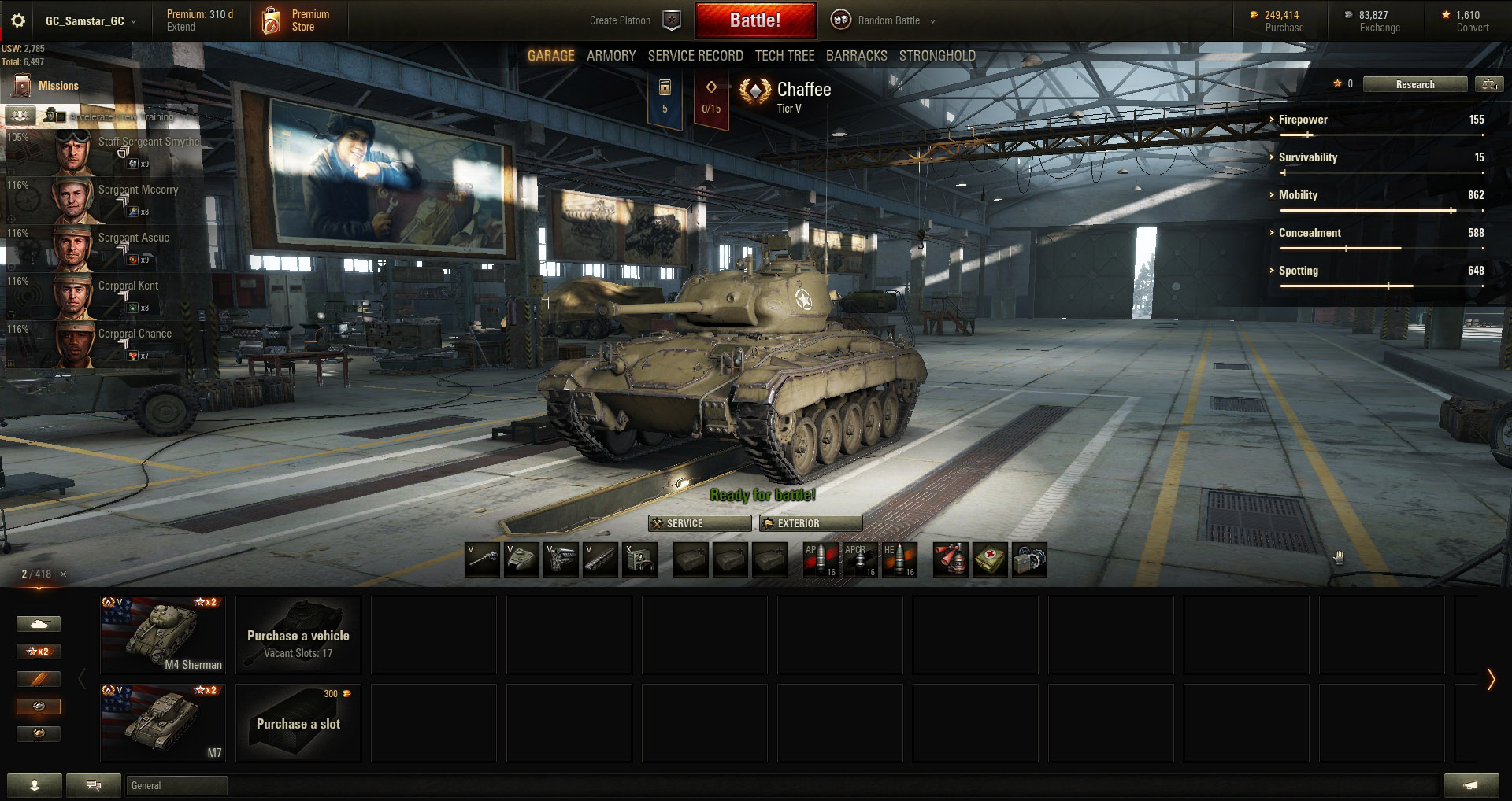 Chaffee - Tier 5 Light