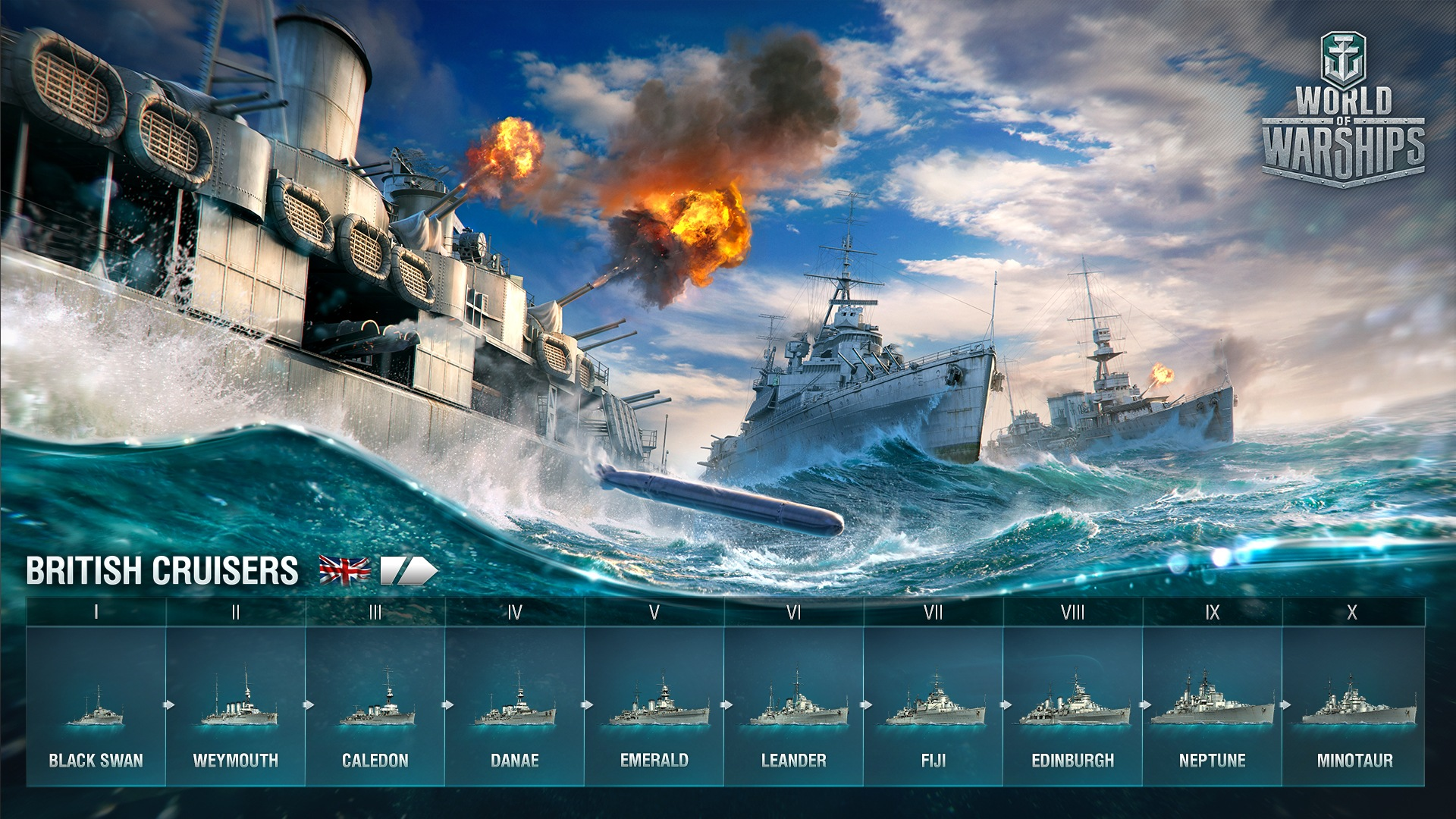 Screenshot of British Cruisers in World of Warships