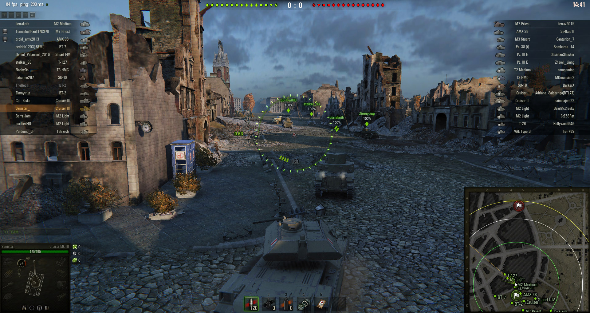 When in a Light Tank, follow your allies into battle to avoid an early death