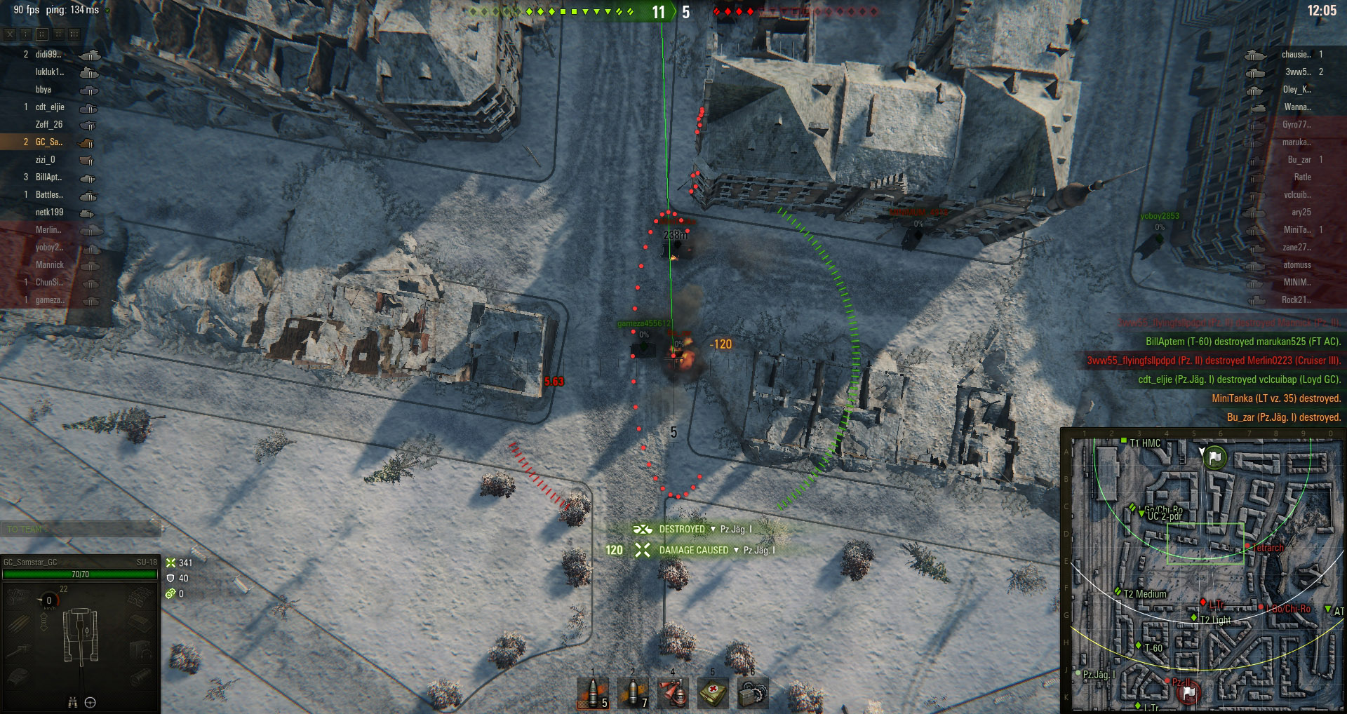 Being able to reload and aim quickly means enemy tanks have less opportunity to escape your attacks.