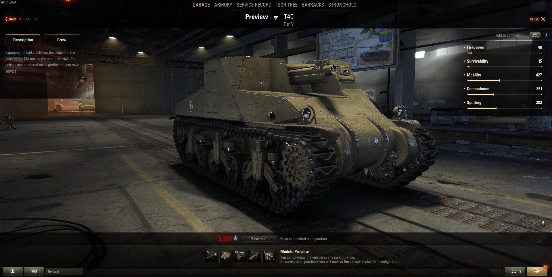 The T40 is a USA Tank Destroyer that can be used in multiple ways on the battlefield.