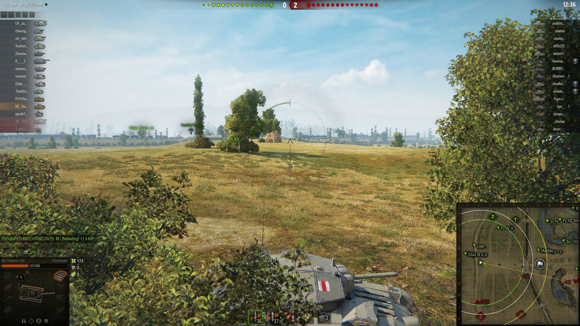Shooting from the sidelines is the best option with the Covenanter.
