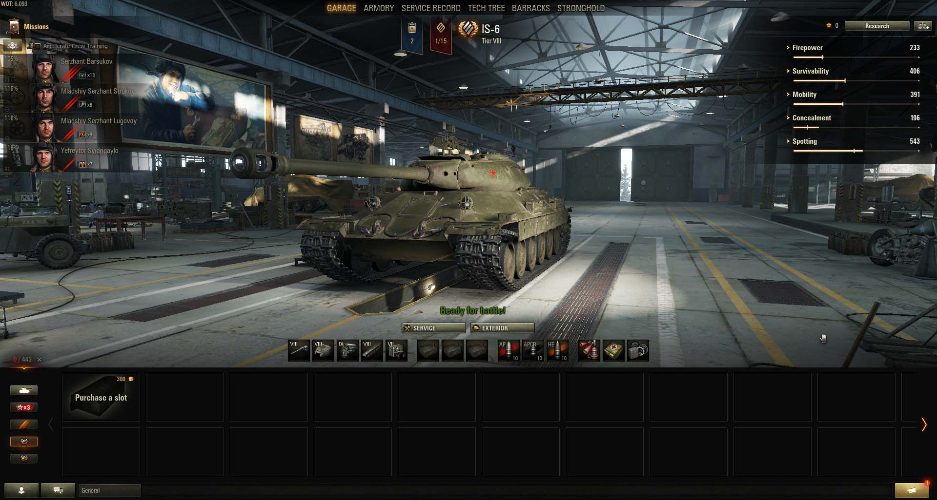 The IS-6 is one of the most popular Tier 8 Premium tanks.